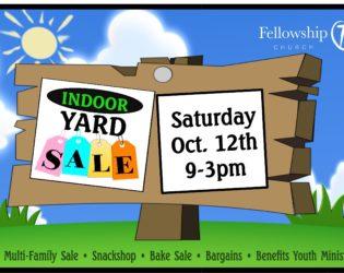 Youth Yard Sale Fundraiser