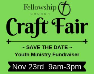 Holiday Craft Fair is November 23!