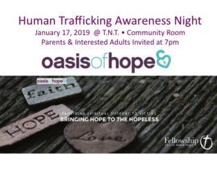 Sex Trafficking Awareness Night at TNT