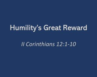 Humility's Great Reward